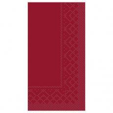 Zelltuch-Serviette 33 x 33 cm; 2-lagig; 1/8 Falz; 1280 Stk. im Karton; Farbe: BORDEAUX
