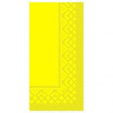 Zelltuch-Serviette 33 x 33 cm; 2-lagig; 1/8 Falz; 1280 Stk. im Karton; Farbe: GELB