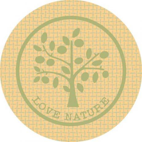Glasabdecker LOVE NATURE JUTE GRÜN 74 mm