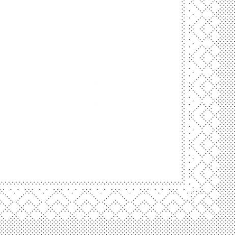 Zellstoff-Serviette weiß 40 x 40 cm; 3-lagig; 1/4 Falz; 1000 Stk. im Karton