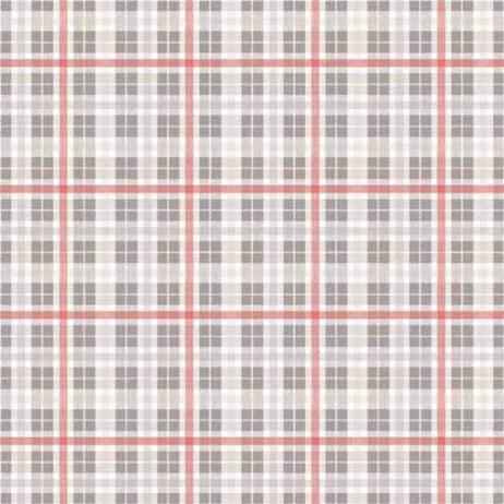 Tischdecken FRED GRAU-ROT 80 x 80 cm aus Linclass