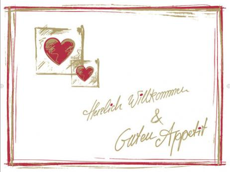 Tischset 40 x 30 cm aus Linclass HERZLICH WILLKOMMEN