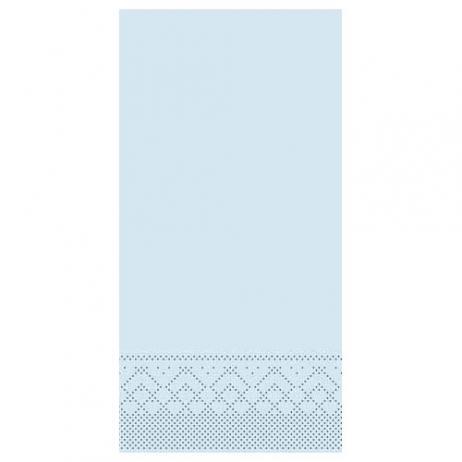 Tissue-Serviette HELLBLAU 40 x 40 cm 1/8-Falz
