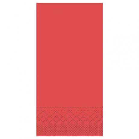 Tissue-Serviette ROT 40 x 40 cm 1/8-Falz