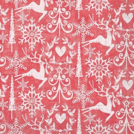 Tissue-Serviette BOB ROT 40 x 40 cm
