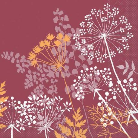 Tissue-Serviette GORDON BORDEAUX 33 x 33 cm