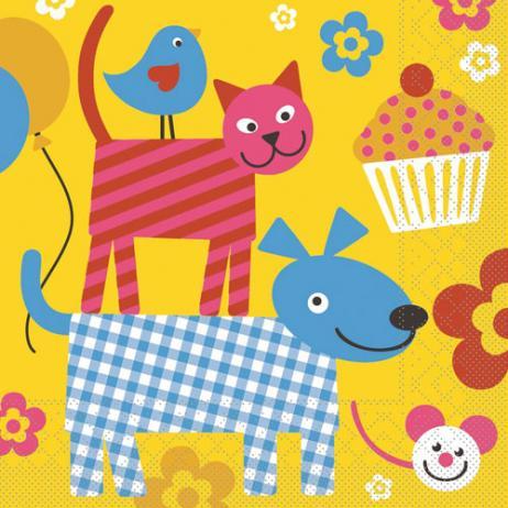 Tissue-Serviette  HAPPY KIDS 33x33 cm; 800 Stück im Karton