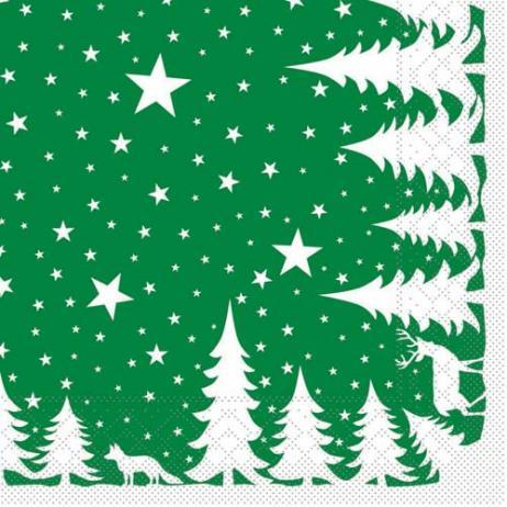 Tissue-Serviette LENNERT GRÜN 40 x 40 cm