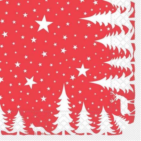 Tissue-Serviette LENNERT ROT 40 x 40 cm