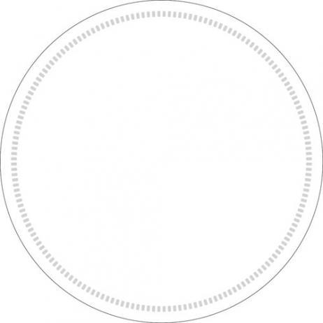 Untersetzer WEISS 90 mm rund aus Tissue, 1500 Stück im Karton